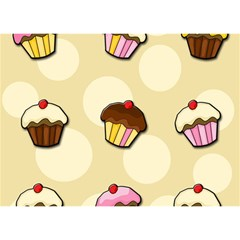 Colorful Cupcakes Pattern Birthday Cake 3d Greeting Card (7x5) by Valentinaart