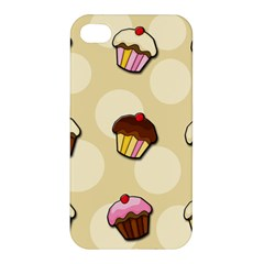 Colorful Cupcakes Pattern Apple Iphone 4/4s Premium Hardshell Case