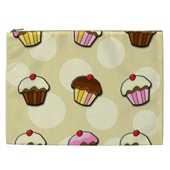 Colorful Cupcakes Pattern Cosmetic Bag (xxl)  by Valentinaart