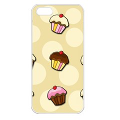 Colorful Cupcakes Pattern Apple Iphone 5 Seamless Case (white) by Valentinaart