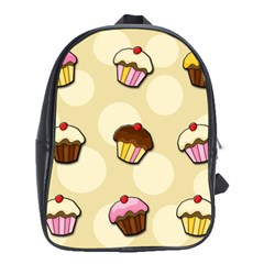 Colorful Cupcakes Pattern School Bags (xl)  by Valentinaart