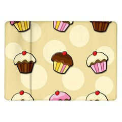 Colorful Cupcakes Pattern Samsung Galaxy Tab 10 1  P7500 Flip Case by Valentinaart