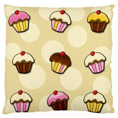 Colorful Cupcakes Pattern Large Flano Cushion Case (two Sides) by Valentinaart