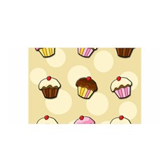 Colorful Cupcakes Pattern Satin Wrap by Valentinaart