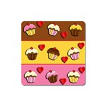 Love cupcakes Square Magnet Front