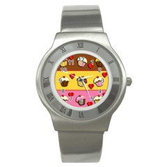 Love Cupcakes Stainless Steel Watch by Valentinaart