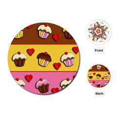 Love Cupcakes Playing Cards (round)