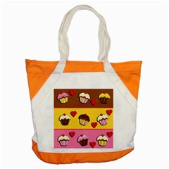 Love Cupcakes Accent Tote Bag by Valentinaart