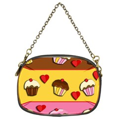 Love Cupcakes Chain Purses (two Sides)  by Valentinaart