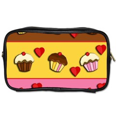 Love Cupcakes Toiletries Bags by Valentinaart