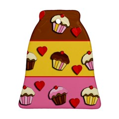 Love Cupcakes Bell Ornament (2 Sides) by Valentinaart