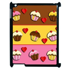 Love Cupcakes Apple Ipad 2 Case (black) by Valentinaart