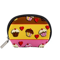 Love Cupcakes Accessory Pouches (small)  by Valentinaart