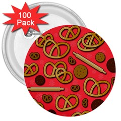 Bakery 3  Buttons (100 Pack)  by Valentinaart