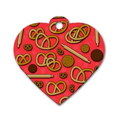 Bakery Dog Tag Heart (one Side)