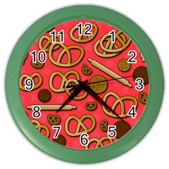 Bakery Color Wall Clocks by Valentinaart