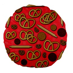 Bakery Large 18  Premium Flano Round Cushions by Valentinaart