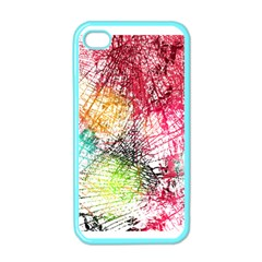 Colorful Abstract  Apple Iphone 4 Case (color) by Brittlevirginclothing