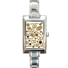 Bakery 3 Rectangle Italian Charm Watch by Valentinaart