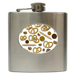 Bakery 3 Hip Flask (6 Oz) by Valentinaart