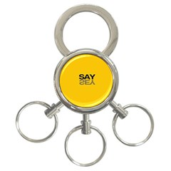 Say Yes 3 Ring Key Chains