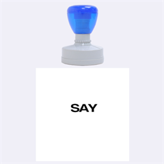 Say Yes Rubber Round Stamps (large)