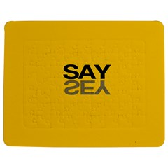 Say Yes Jigsaw Puzzle Photo Stand (rectangular) by AnjaniArt