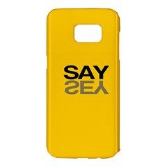 Say Yes Samsung Galaxy S7 Edge Hardshell Case by AnjaniArt