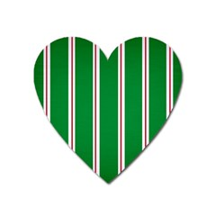 Green Line Heart Magnet by AnjaniArt