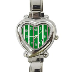 Green Line Heart Italian Charm Watch