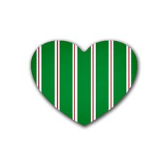 Green Line Heart Coaster (4 Pack)