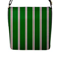 Green Line Flap Messenger Bag (l)  by AnjaniArt
