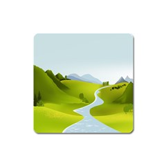Scenery Square Magnet