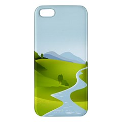 Scenery Apple Iphone 5 Premium Hardshell Case by AnjaniArt