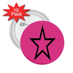 Star 2 25  Buttons (10 Pack)