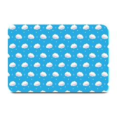 Seamless Fluffy Cloudy And Sky Plate Mats
