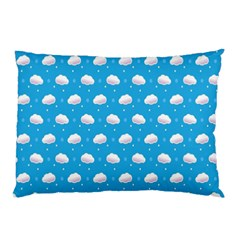 Seamless Fluffy Cloudy And Sky Pillow Case (two Sides)