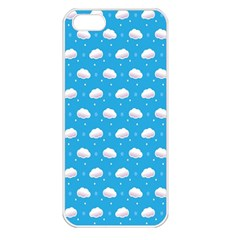 Seamless Fluffy Cloudy And Sky Apple Iphone 5 Seamless Case (white)