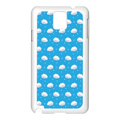 Seamless Fluffy Cloudy And Sky Samsung Galaxy Note 3 N9005 Case (white) by AnjaniArt