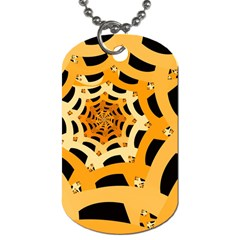 Spider Helloween Yellow Dog Tag (two Sides) by AnjaniArt