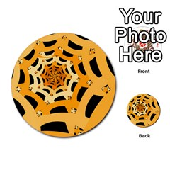 Spider Helloween Yellow Multi Purpose Cards (round)  by AnjaniArt