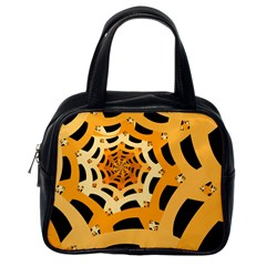 Spider Helloween Yellow Classic Handbags (one Side)