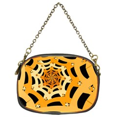 Spider Helloween Yellow Chain Purses (two Sides)  by AnjaniArt