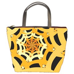 Spider Helloween Yellow Bucket Bags by AnjaniArt