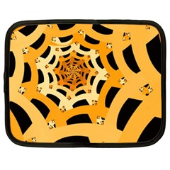 Spider Helloween Yellow Netbook Case (xl)  by AnjaniArt