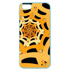 Spider Helloween Yellow Apple Seamless Iphone 5 Case (color) by AnjaniArt
