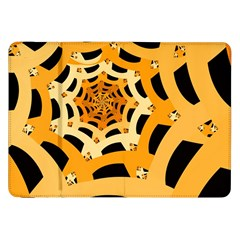 Spider Helloween Yellow Samsung Galaxy Tab 8 9  P7300 Flip Case by AnjaniArt