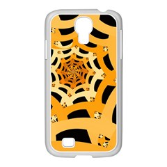 Spider Helloween Yellow Samsung Galaxy S4 I9500/ I9505 Case (white)