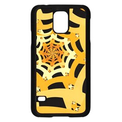 Spider Helloween Yellow Samsung Galaxy S5 Case (black) by AnjaniArt