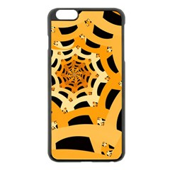 Spider Helloween Yellow Apple Iphone 6 Plus/6s Plus Black Enamel Case by AnjaniArt